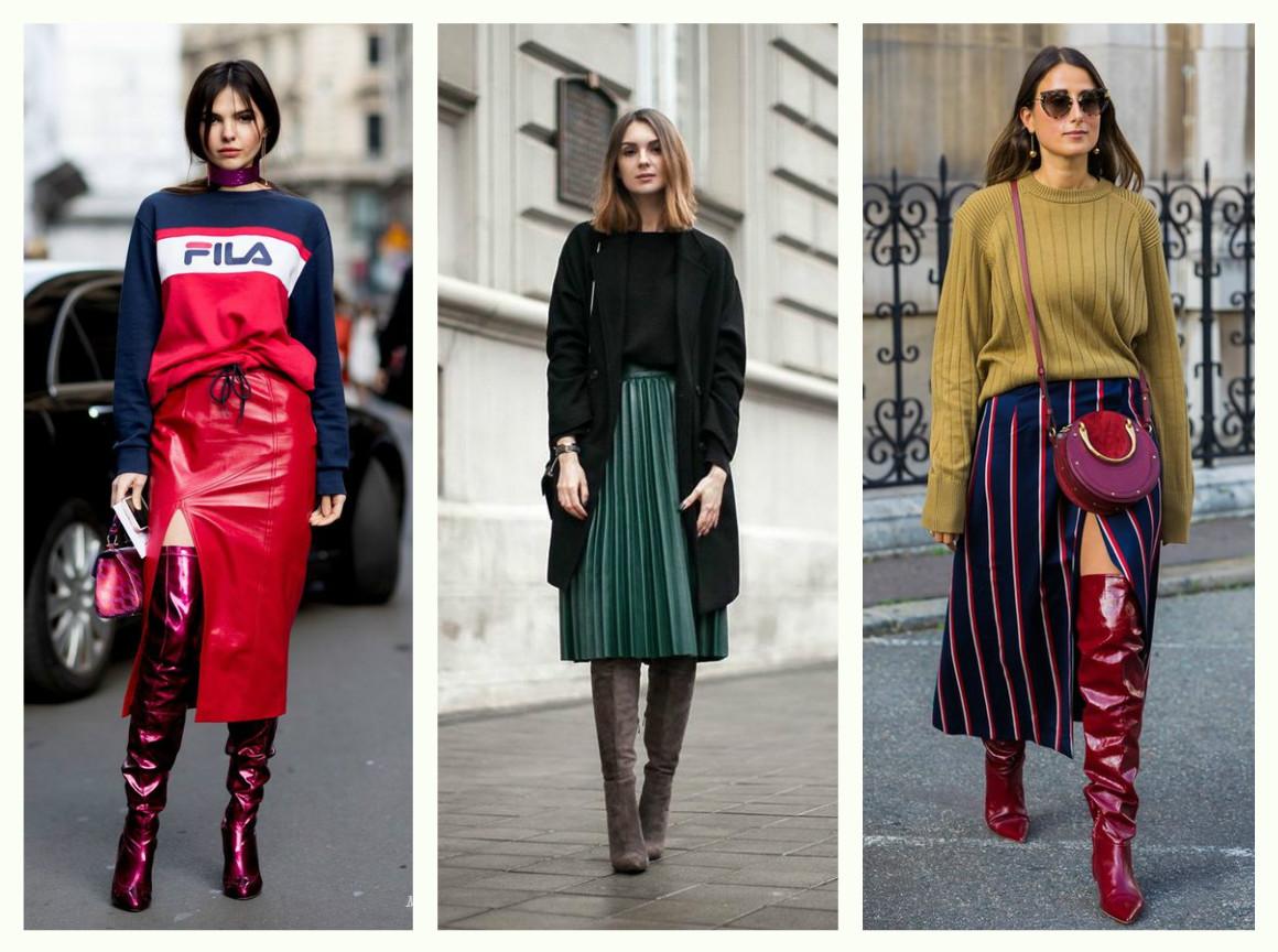 Модные ботфорты осень зима 2017-2018 фото