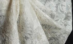 купить Ажур с вышивкой на органзе крэш 000/el18
