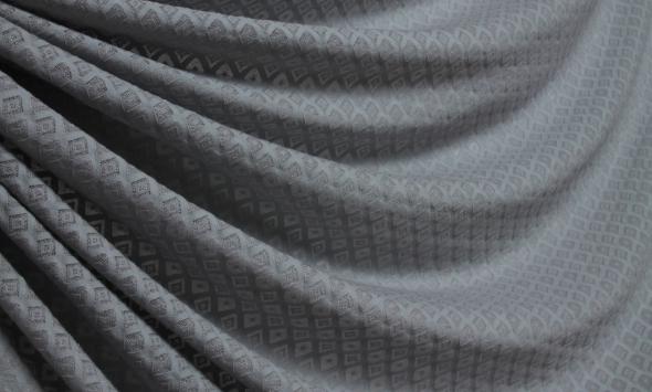 Жаккардовый тонкий трикотаж 000/mr278 - Фото