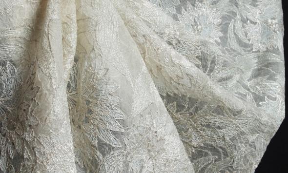Ажур с вышивкой на органзе крэш 000/el18 - Фото