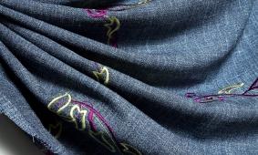 купить Декоративная ткань с машинной вышивкой 000/vn25
