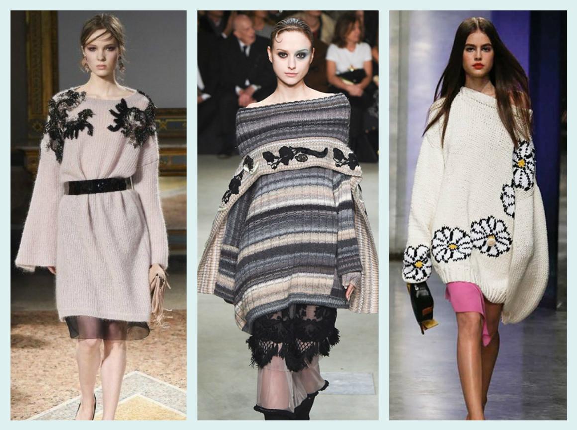 6958f6cd643 Модные женские свитеры осень-зима 2017-2018  ключевые тенденции ...